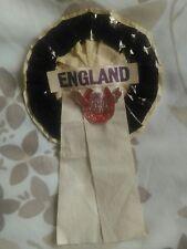 ENGLAND FOOTBALL TEAM ROSETTE AGAINST URAGUAY MAY 1964.