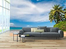 Plam tree beach hawaii 3D Wallpaper Mural Wall Paper Background Furniture