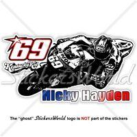 NICKY HAYDEN 69 Kentucky Kid MotoGP Racing 153mm Sticker Autocollant Adesivo