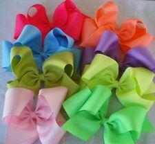 "8 Jumbo Back to School Bows,pick fav colors,2 1/4"" wide ribbon,Texas style"