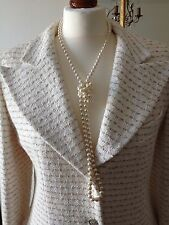 Authentic CHANEL 98P Jacket Ecru Cream Boucle FR40 UK12 NWOT Made In France
