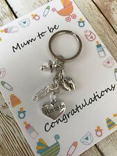 The Proud Mum to be pregnancy charm keyrings dummy - baby shower gift