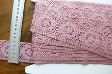 Polyester TEA ROSE Edge Floral Lace 7 Metres 50mm Wide Flt1