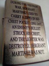 Zippo Lighter 2010 Vietnam Bullet Sergeant Martinez