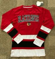 NHL Chicago Blackhawks Hockey Jersey Shirt Sweater Red Adult Size Small S 34/36