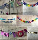 Personalised retirement Banner leaving do bunting Well Miss you decorations