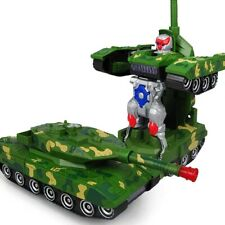 Transformer Auto Tank Roboter Elektronisches Spielzeug Licht Musik Jungs Tarnung