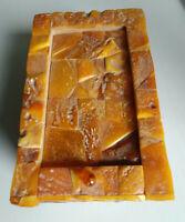Bernstein Ostsee Amber Schatulle 545 Gramm Butterscotch Egg Yolk 琥珀