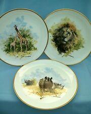 Wedgwood The David Shepherd Wildlife Collection 3 Plates Lion/Rhino Free Post