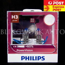 (PAIR) Philips H3 Power Vision Power Vision +60% Halogen Bulb for fog Spot light