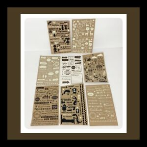 October Afternoon Rub Ons Lot Scrapbooking Paper Crafts