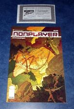NONPLAYER #1 signed variant 2nd print iMAGE COMIC NATE SIMPSON 2011 COA awesome