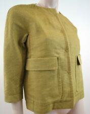 PRINGLE OF SCOTLAND Women's Fabulous Mustard Yellow 3/4 Sleeve Jacket UK10; US6