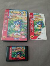 New ListingSonic the Hedgehog 3 (Sega Genesis, 1994) complete w Manual
