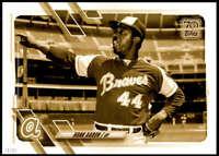Hank Aaron 2021 Topps 5x7 Variation Short Prints Gold #120 /10 Braves