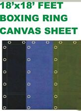 Wrestling Boxing ring canvas sheet 18x18 feet in Black, Blue and Green