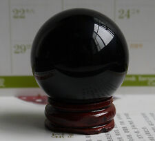 40MM +Stand Black Sphere Large Crystal Ball Healing Stone