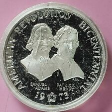1973 BICENTENIAL COMMEMORATIVE STERLING SILVER PROOF COIN. ADAMS & HENRY