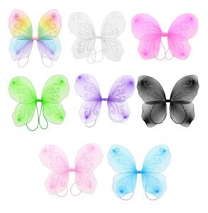 Fancy Dress Costume Dressing Up Glitter Butterfly Fairy Wings Halloween Girls