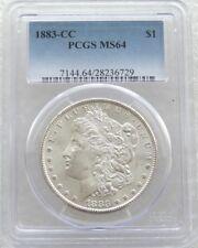 1883-CC Estados Unidos $1 un dólar Morgan plata moneda PCGS MS64 Carson City