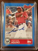 2020 Topps Brooklyn Collection Aristides Aquino RC Blue Parallel Autograph 22/30