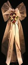 10 x Pew End Bows Wedding Church Venue Decorations Personalised  plain 'JULIET'