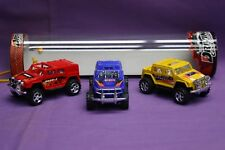 3 Piece Set of 4 X 4 Off-Road Toy Vehicles Various Styles/Colours