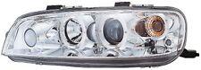 Fiat Punto Mk2 1999-2003 Chrome Halo Angel Eye Projector Front Headlights Lights