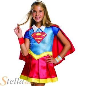 Supergirl Rose Cape Robe FANTAISIE Fille Super-Héros Bande dessinée enfants enfant costume AC