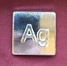 """3 oz Hand Poured 999 Silver Bullion Bar """"Ag"""" by Yeager's Poured Silver - YPS"""