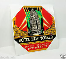 Hotel New Yorker Vintage Style Travel Decal / Vinyl Sticker, Luggage Label