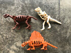 Burger King 1989 Bone Age Kenner Lot Of 3  Figure Kids Meal Toy Dinosaurs 🦖 🦕