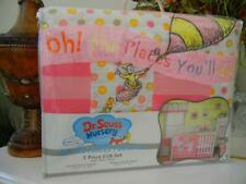 Nip Trend Lab Pink Dr. Seuss Nursery Oh The Places You Will Go 3 Piece Quilt Set