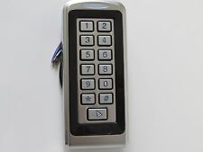 Keypad Access Control narrow Stand Alone Wiegand 12VDC vandal proof 2000 CKP8SCA