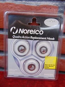 Brand New NORELCO PHILIPS Quadra Action SHAVER  HEAD REPLACEMENT HQ6 Unopened