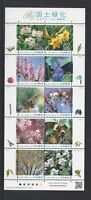 JAPAN 2018 Greeting Fukushima  Flower S/S Stamp
