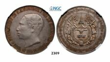 4 Francs Sized Norodom I Funeral Medal Cambodia 1860-1904 1905 NGC AU-55