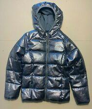 Old Navy Girls Metallic Hooded Puffer Winter Coat Size 10/12