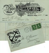6 Tobacco Covers With Advertising-1886-1905, One With Graphic Bill Head