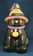 Halloween Black Cat In Witches Hat Harry And David Holiday Cookie Jar