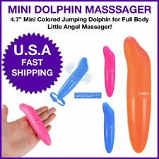 Mini Dolphin Wand Shaped Bullet Massage Waterproof Multispeed Pocketable