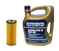 Quantum Oil 5w30 + Filter Seat Alhambra 1.9 TDI 4motion 1896CC 85KW Diesel