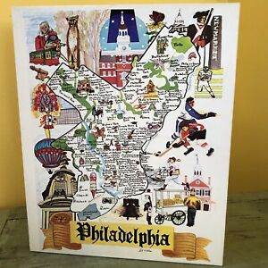 VINTAGE PHILADELPHIA JIGSAW PUZZLE 550 PIECES KATY WINTERS 1978 Philly Souvenir