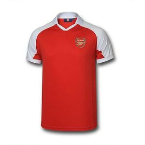 100% Official Merchandise Men's Arsenal AFC Poly Panel Polo Shirt, Red