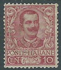 1901 REGNO FLOREALE 10 CENT MH * - Y141