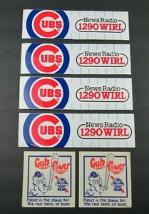 Vintage Chicago Cubs Bumper Stickers w/ Extras