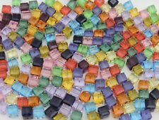 SWAROVSKI® Crystal Cubes, Art # 5601 6mm,Twenty-Six Square Beads,Assorted Colors