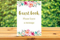 Printable Guest book sign - wedding, bridal shower, birthday, baby shower