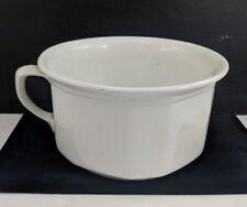 Antique Vintage BRISTOL CHAMBER POT Plain White Porcelain Straight Sides England