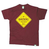 Golf T-Shirt Funny Novelty Mens tee TShirt - Warning May Spontaneously Start